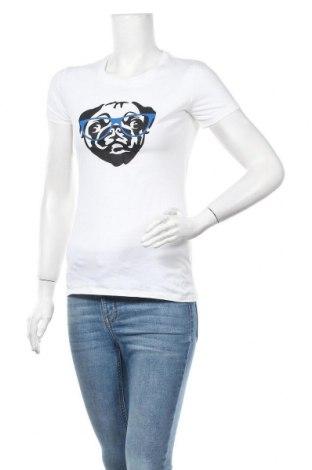 Дамска тениска Spread Shirt, Размер S, Цвят Бял, Памук, Цена 14,18лв.
