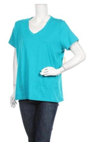 Дамска тениска St. John's Bay, Размер XXL, Цвят Син, Памук, Цена 17,64лв.