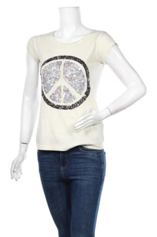 Дамска тениска Sublevel, Размер S, Цвят Бежов, 100% памук, Цена 16,80лв.