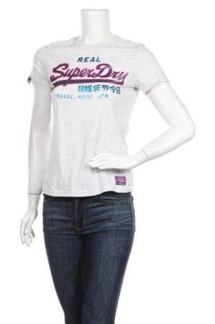 Дамска тениска Superdry, Размер S, Цвят Сив, 60% памук, 40% полиестер, Цена 31,92лв.