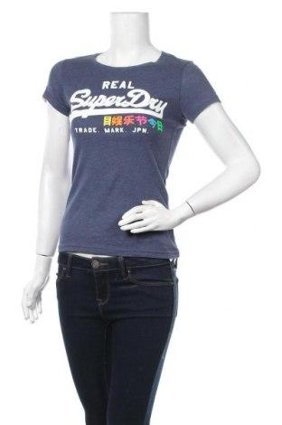 Дамска тениска Superdry, Размер XS, Цвят Син, Цена 26,88лв.