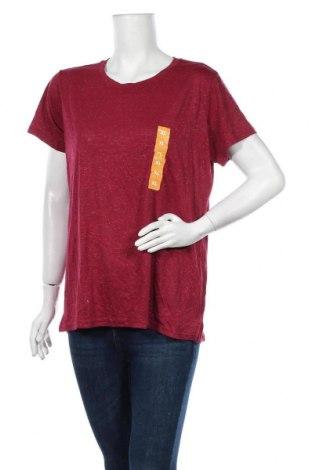 Дамска тениска Target, Размер XL, Цвят Червен, Полиестер, вискоза, метални нишки, Цена 17,75лв.