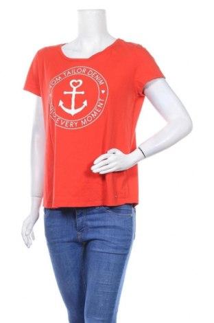 Дамска тениска Tom Tailor, Размер XL, Цвят Оранжев, Цена 19,50лв.