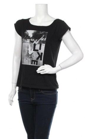 Дамска тениска Tom Tailor, Размер S, Цвят Черен, Памук, Цена 8,40лв.