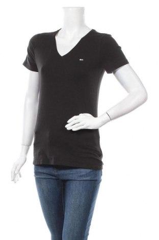 Дамска тениска Tommy Hilfiger, Размер M, Цвят Черен, 96% памук, 4% еластан, Цена 35,70лв.