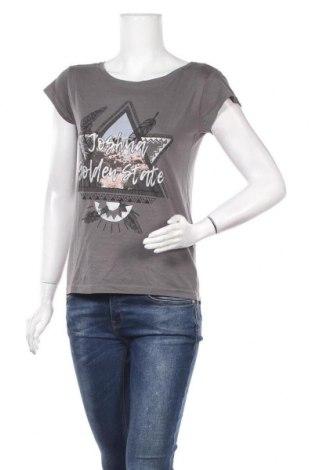 Дамска тениска Twintip, Размер S, Цвят Сив, 50% модал, 50% памук, Цена 8,93лв.