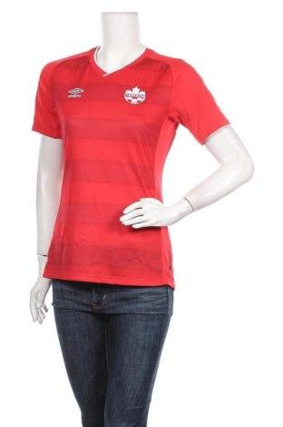 Дамска тениска Umbro, Размер S, Цвят Червен, Полиестер, Цена 8,93лв.