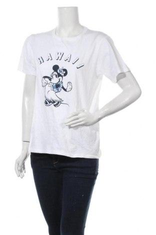 Дамска тениска Uniqlo, Размер M, Цвят Бял, Памук, Цена 14,28лв.