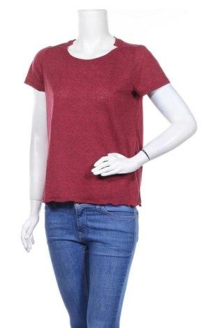 Дамска тениска Vero Moda, Размер M, Цвят Червен, 85% полиестер, 15% лен, Цена 12,92лв.