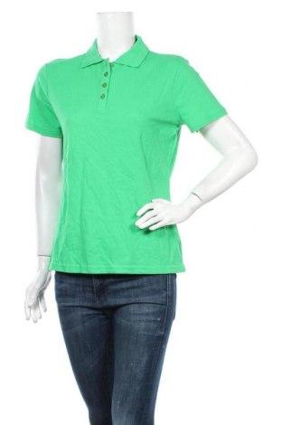 Дамска тениска W.O.B. World Of Basics, Размер L, Цвят Зелен, Памук, Цена 8,03лв.