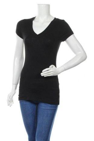 Дамска тениска Zenana, Размер M, Цвят Черен, 95% памук, 5% еластан, Цена 9,66лв.