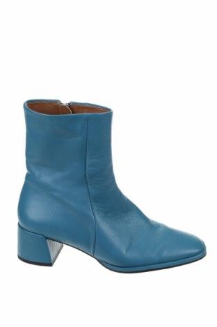 Дамски боти Zara, Размер 37, Цвят Син, Естествена кожа, Цена 45,75лв.