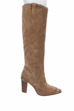 Дамски ботуши Bronx, Размер 40, Цвят Кафяв, Естествен велур, Цена 157,92лв.
