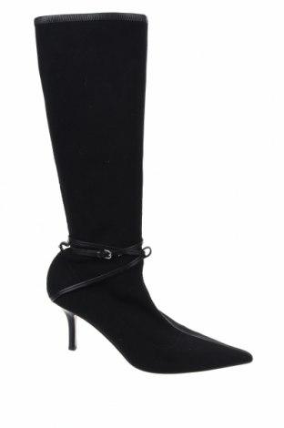 Дамски ботуши Gucci, Размер 40, Цвят Черен, Текстил, естествена кожа, Цена 238,50лв.