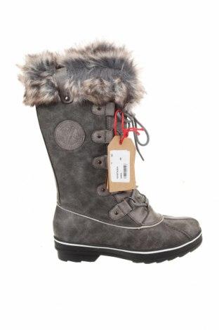 Γυναικείες μπότες Kimberfeel, Μέγεθος 39, Χρώμα Γκρί, Δερματίνη, Τιμή 40,82€