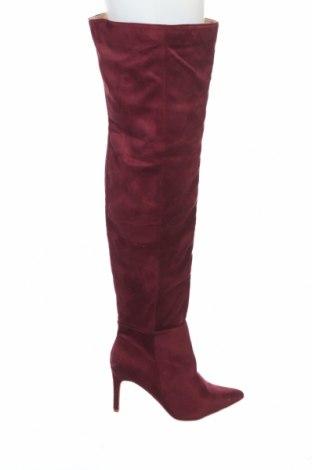 Cizme de damă Missguided, Mărime 40, Culoare Mov, Textil, Preț 126,58 Lei
