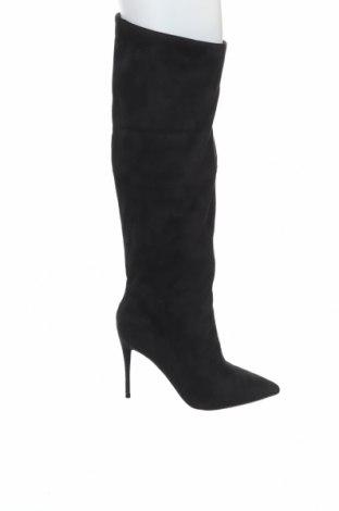 Дамски ботуши Steve Madden, Размер 40, Цвят Черен, Текстил, Цена 167,40лв.
