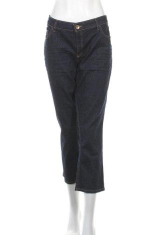 Дамски дънки, Размер XXL, Цвят Син, Памук, еластан, Цена 26,93лв.