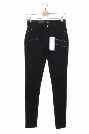 Дамски дънки B.Young, Размер XS, Цвят Черен, 60% памук, 38% полиестер, 2% еластан, Цена 46,20лв.