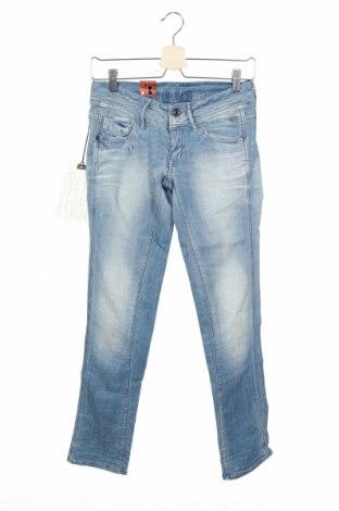 Дамски дънки G-Star Raw, Размер XS, Цвят Син, 91% памук, 8% полиестер, 1% еластан, Цена 52,67лв.
