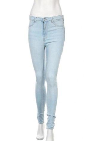 Дамски дънки H&M Divided, Размер M, Цвят Син, 78% памук, 21% полиестер, 1% еластан, Цена 33,32лв.