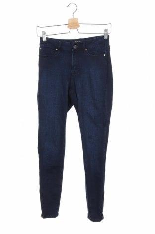 Дамски дънки Jeanswest, Размер XS, Цвят Син, 43% вискоза, 27% памук, 14% модал, 14% полиестер, 2% еластан, Цена 9,47лв.