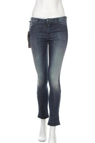 Дамски дънки Met, Размер S, Цвят Син, 70% памук, 28% полиестер, 2% еластан, Цена 90,35лв.