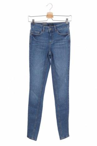 Дамски дънки Pieces, Размер XS, Цвят Син, 85% памук, 13% полиестер, 2% еластан, Цена 46,92лв.
