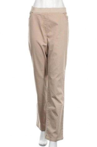 Дамски дънки Raphaela By Brax, Размер XXL, Цвят Бежов, 78% памук, 18% полиестер, Цена 43,89лв.