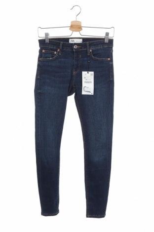 Γυναικείο Τζίν Zara, Μέγεθος S, Χρώμα Μπλέ, 61% βαμβάκι, 31% μοντάλ, 6% πολυεστέρας, 2% ελαστάνη, Τιμή 22,73€