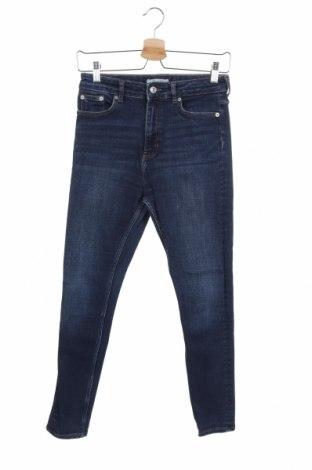 Дамски дънки Zara, Размер S, Цвят Син, Цена 23,25лв.