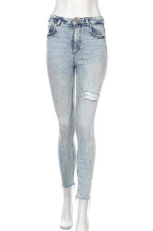 Дамски дънки Zara Trafaluc, Размер S, Цвят Син, 93% памук, 6% полиестер, 1% еластан, Цена 27,75лв.