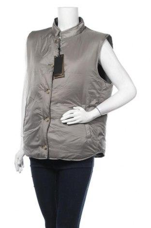 Дамски елек Massimo Dutti, Размер XL, Цвят Зелен, Полиестер, пух и пера, Цена 130,67лв.