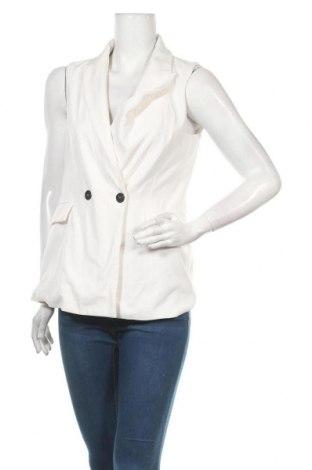 Дамски елек Zara, Размер M, Цвят Бял, 95% полиестер, 5% еластан, Цена 14,70лв.