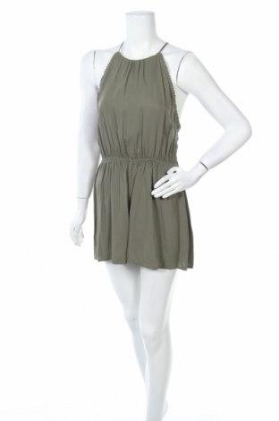 Дамски гащеризон H&M Divided, Размер L, Цвят Зелен, Вискоза, Цена 9,66лв.