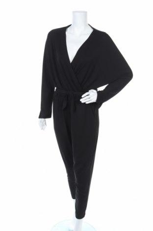 Дамски гащеризон Zara, Размер L, Цвят Черен, 96% полиестер, 4% еластан, Цена 27,75лв.