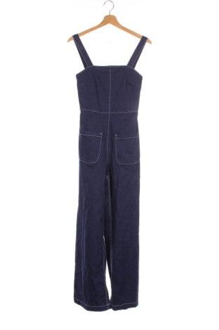 Дамски гащеризон Zara Trafaluc, Размер XS, Цвят Син, 99% памук, 1% еластан, Цена 59,86лв.