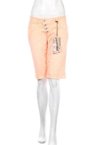 Γυναικείο κοντό παντελόνι Buena Vista, Μέγεθος M, Χρώμα Πορτοκαλί, 98% βαμβάκι, 2% ελαστάνη, Τιμή 11,34€