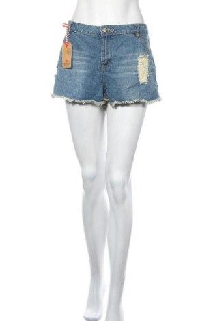 Дамски къс панталон Lee Cooper, Размер XL, Цвят Син, Памук, Цена 11,76лв.