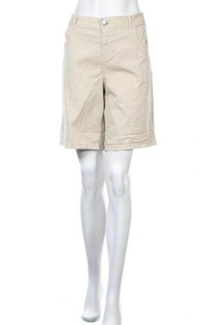 Дамски къс панталон Ms Mode, Размер L, Цвят Бежов, 98% памук, 2% еластан, Цена 24,15лв.