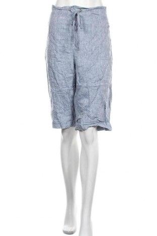 Γυναικείο κοντό παντελόνι Noni B, Μέγεθος XL, Χρώμα Μπλέ, Λινό, Τιμή 9,35€