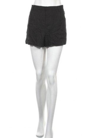 Дамски къс панталон Showpo, Размер XXL, Цвят Черен, 70% вискоза, 30% лен, Цена 5,51лв.