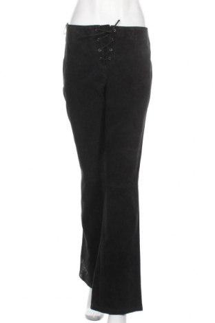 Дамски кожен панталон, Размер XL, Цвят Черен, Естествена кожа, Цена 41,90лв.