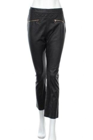 Дамски кожен панталон Pinko, Размер L, Цвят Черен, Еко кожа, Цена 100,10лв.