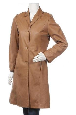 Дамски кожен шлифер Cabrini, Размер S, Цвят Кафяв, Естествена кожа, Цена 82,01лв.