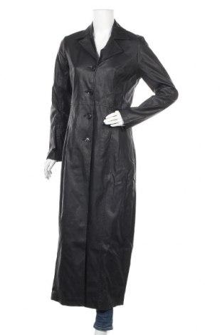 Дамски кожен шлифер Gipsy, Размер M, Цвят Черен, Еко кожа, Цена 57,33лв.