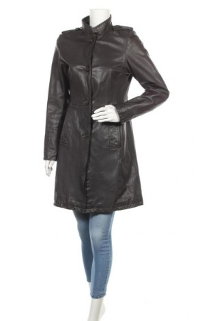 Дамски кожен шлифер Marc O'Polo, Размер S, Цвят Кафяв, Естествена кожа, Цена 125,37лв.