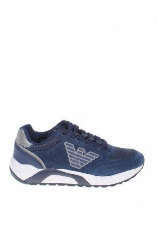 Дамски обувки Emporio Armani, Размер 37, Цвят Син, Естествен велур, текстил, Цена 276,75лв.