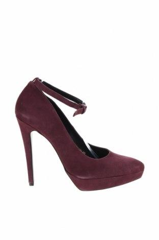 Дамски обувки Even&Odd, Размер 42, Цвят Червен, Естествен велур, Цена 74,12лв.