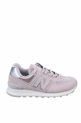 Дамски обувки New Balance, Размер 38, Цвят Розов, Естествен велур, текстил, Цена 134,25лв.